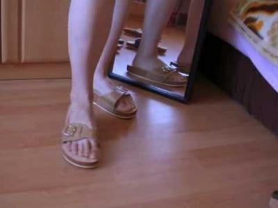 Cork slippers - fashion show