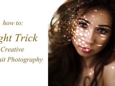 Creative DIY Portrait Tutorial using just Light ( Light Dots) Photoshoot Ideas