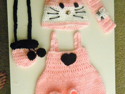 Crochet baby Hello Kitty dress set