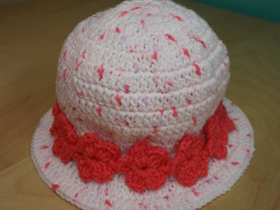 Crochet Girl's Hat From 3 to 6 Years Old With Matching Dress