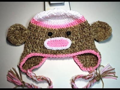 #Crochet sock monkey beanie  - video 2 (final)