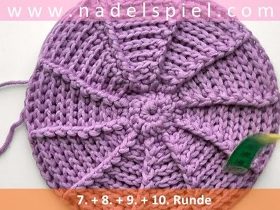 Crochet with eliZZZa * Peaked Cap with Front Post and Back Post Double Crochets * Part #02