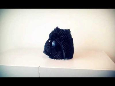 Darth Vader Origami 3d