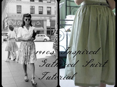 DIY 1940s Inspired Gathered Skirt Sewing Tutorial
