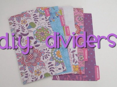 DIY Dividers for your Personal Filofax Organiser or Planner
