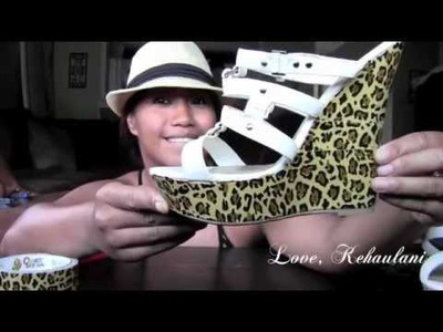 DIY: Duck Tape Leopard Shoes