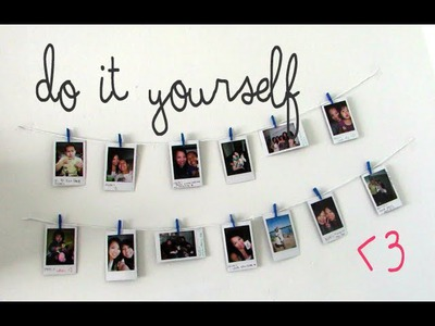 DIY: Easy & Fast Hanging Picture Display