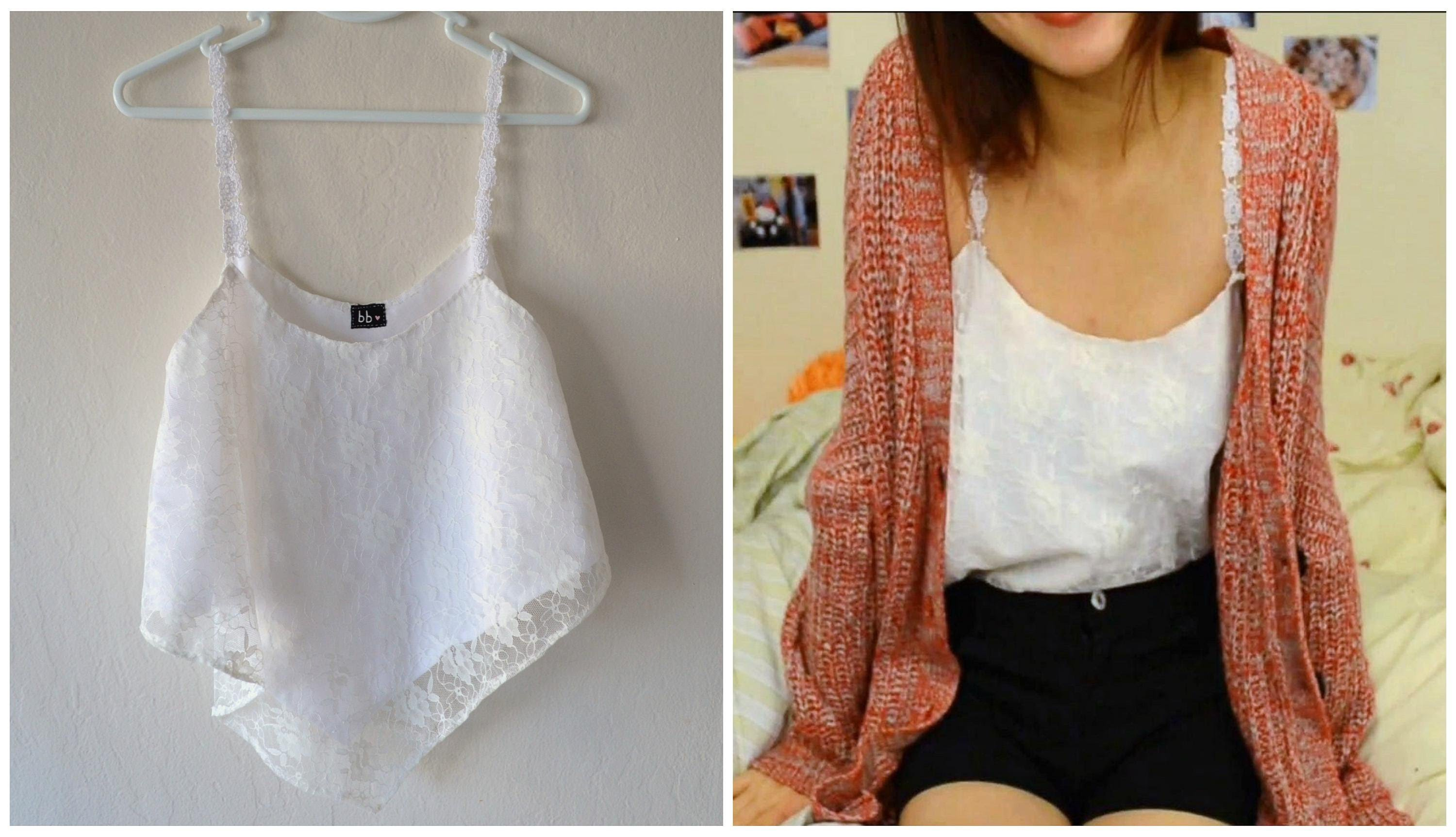 ✂ DIY: EASY Lace Crop Top