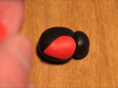 DIY Ladybug Polymer Clay Charm Tutorial