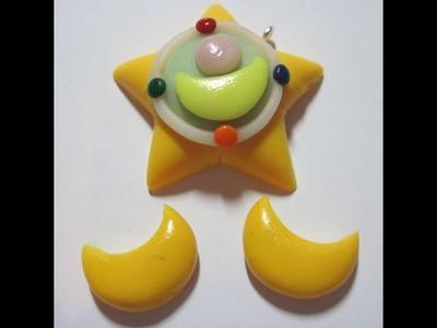 DIY Polymer clay: Sailor Moon star charm!
