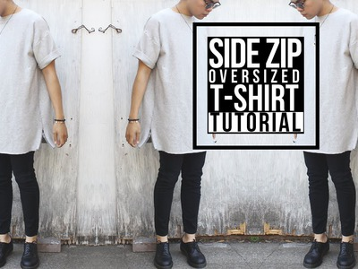 DIY: Side Zip Oversized Shirt