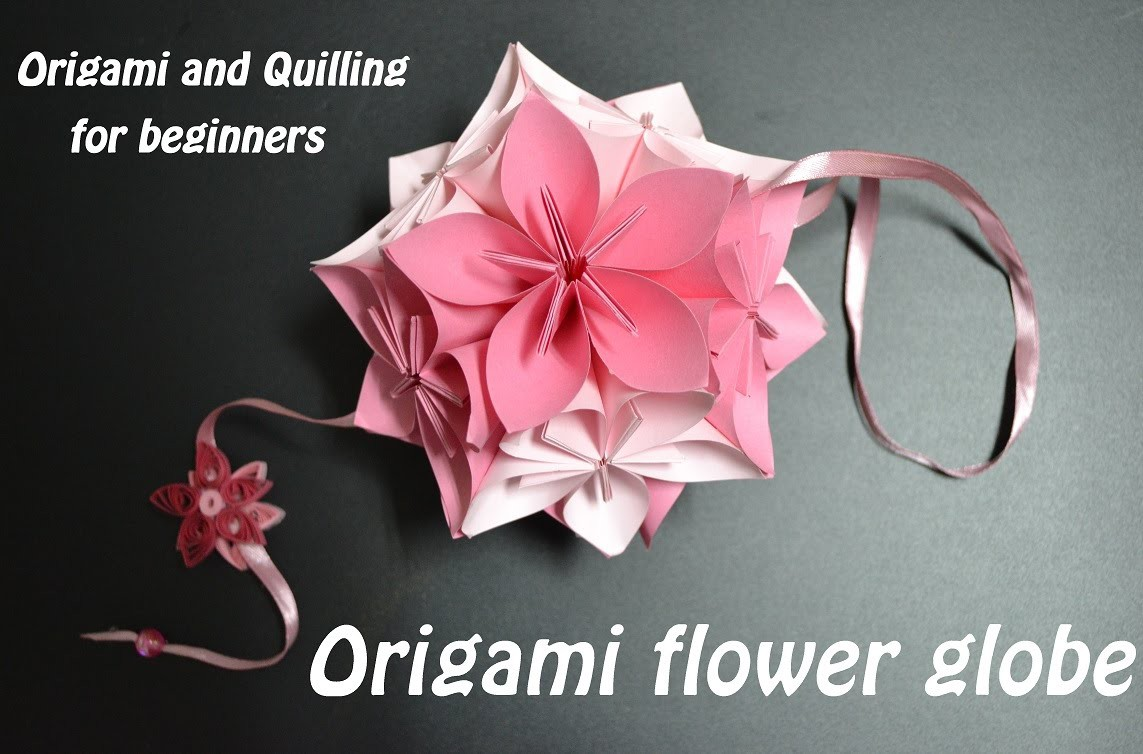 DIY Simple Origami Flower Ball - Rose -Kusudama Instructions