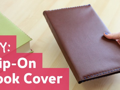 DIY Slip-On Leather Book Cover