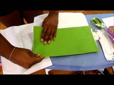 DIY ♡ Turn a placemat into a clutch purse in 5 mins