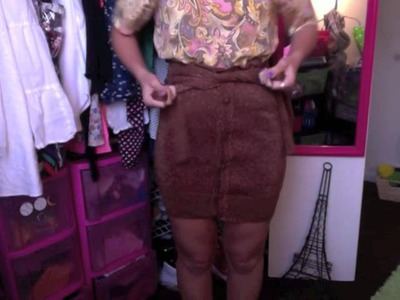 DIY: Turn Your Cardigan into a Skirt