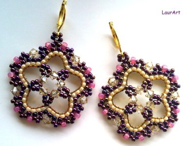 DIY TUTORIAL: orecchini Lotus P 1. Lotus earrings P 1