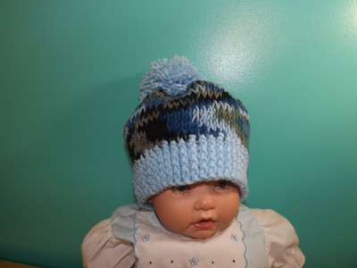 Easy Tunisian Crochet Baby's Hat
