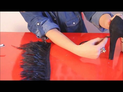 Fashion Attack : how to make YSL feather high heels DIY