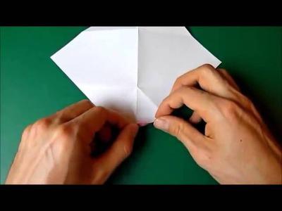 Gấp thiệp Valentine Origami hình đôi môi xinh dễ thương
