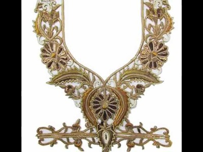 Get Pizazz Look with Heavy Embroidered Neck Patches From India
