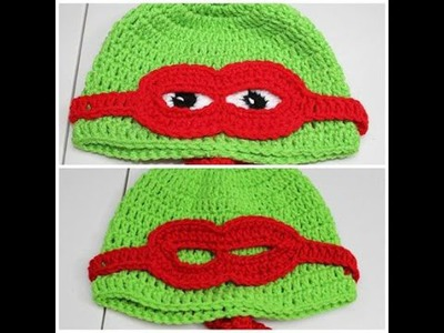 Gorro de tortuga con mascara en #Crochet -  video 2