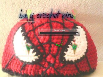 Gorros de tejido baby crochet-nina