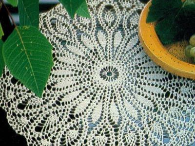 Gráficos para tejer mantel.tapete con motivos piña a crochet