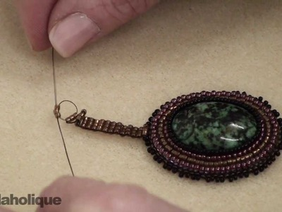 How to Bead Weave a Ladder Stitch Bail