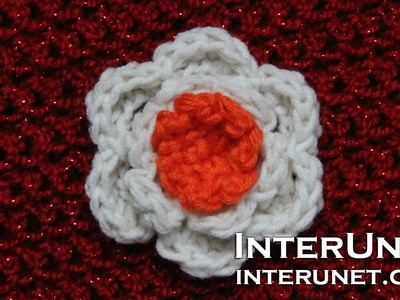 How to crochet a flower - easy for beginners stitch
