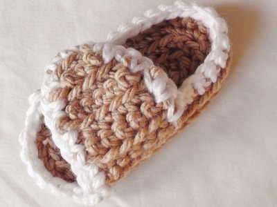 How to crochet slippers for left handed