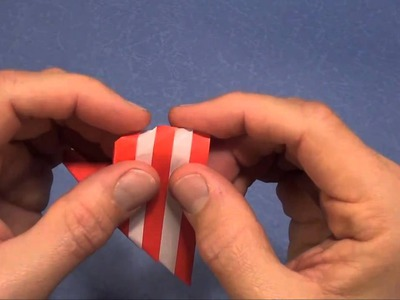 How To Fold an Origami Striped Heart