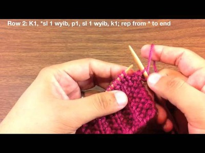 How to Knit the Fluted Fabric Stitch (English Style)