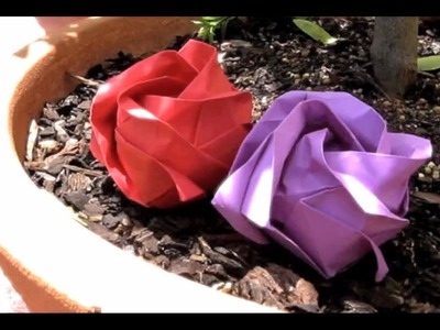 How to Make an Origami Rose (Kawasaki)