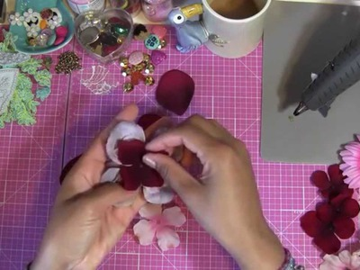 How to Make Prima Flowers - DIY Floral Scrapbook Embellishments