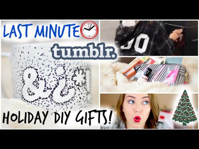 Last Minute Tumblr DIY Holiday Gifts!