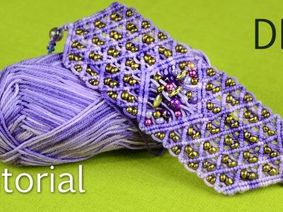 Macramé Firework Bracelet Tutorial