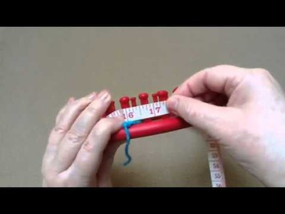 Make an 8 inch square on a round loom