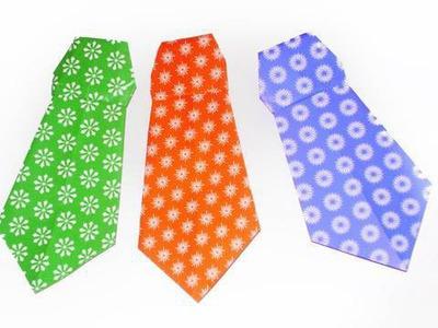 Manualidades de origami: corbata facilisima