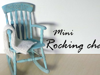 Miniature Furniture; Rocking Chair Tutorial - Dolls.Dollhouse