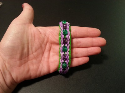 "New ""Delicate Beaded Double"" Rainbow Loom. Monster Tail Bracelet. How To Tutorial"