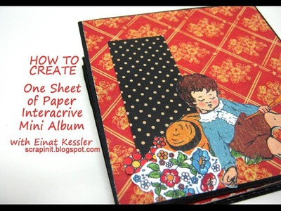 One Sheet of Paper Interactive Mini Album
