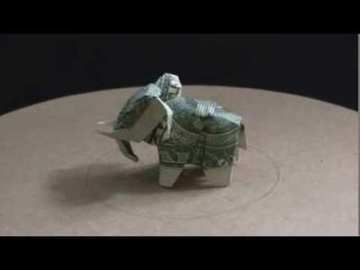 Origami Dollar Elephant 2 by: Ken Hmoob