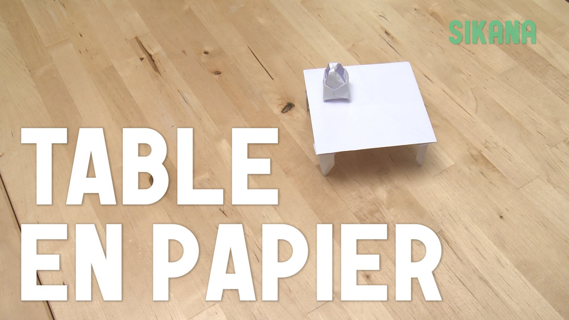 Origami : Faire une table en papier - HD