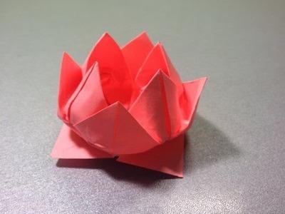 Оригами лилия. Сделать водяную лилию. Origami lily. Make a water lily.