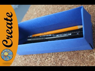 Origami pencil box - How to