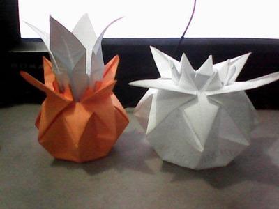 Origami pumpkin Vase(Jarron)
