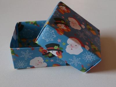 Origami ! Une boîte de Noël.