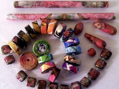 Paper Napkin Nugget Beads Cutting Paper Tubes Lesson 5