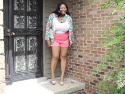 Plus Size OTTD: How to style crochet shorts