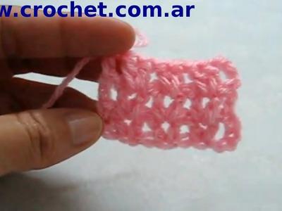 Punto Fantasía Nº 12 en tejido crochet tutorial paso a paso.
